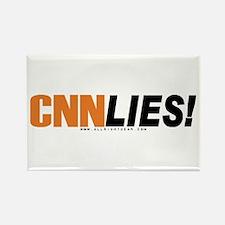 CNN Lies Rectangle Magnet