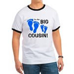 Big Cousin Baby Footprints Ringer T
