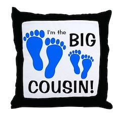 Big Cousin Baby Footprints Throw Pillow