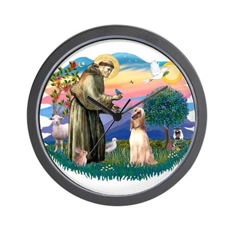 St Francis #2/ Afghan Hound Wall Clock