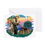 St Francis #2/ Airedale Greeting Cards (Pk of 10)