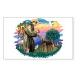 St Francis #2/ Airedale Sticker (Rectangle)