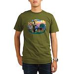 St Francis #2/ Airedale Organic Men's T-Shirt (dar