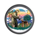 St Francis #2/ Airedale Wall Clock