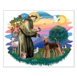 St Francis #2/ Airedale Small Poster