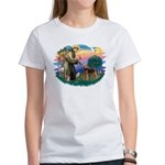 St Francis #2/ Airedale Women's T-Shirt