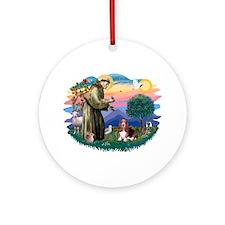 St Francis #2/ Basset Hound Ornament (Round)