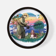 St Francis #2/ Basset Hound Wall Clock