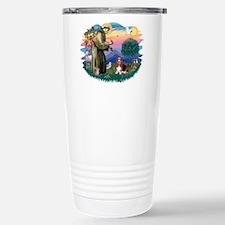 St Francis #2/ Basset Hound Travel Mug