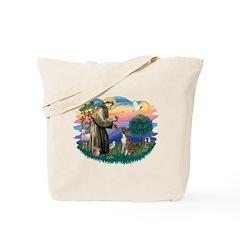 St Francis #2/ Boxer (nat ears) Tote Bag