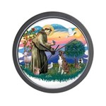 St Francis #2/ Boxer (nat ears) Wall Clock
