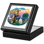St Francis #2/ English Set. Keepsake Box