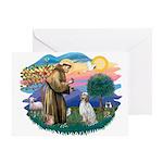 St Francis #2/ English Set. Greeting Card