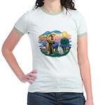 St Francis #2/ English Set. Jr. Ringer T-Shirt