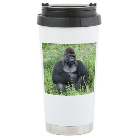 Stainless Steel Travel Mug-Gorilla
