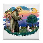 St Francis #2/ Fox Terrier Tile Coaster