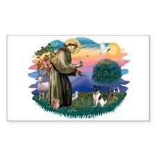 St Francis #2/ Fox Terrier Decal