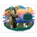 St Francis #2/ Fox Terrier Small Poster