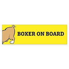 Boxer on Board Bumper Bumper Sticker