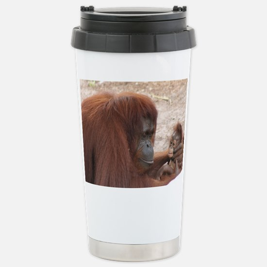 Stainless Steel Travel Mug-Orangutan