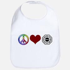 Peace Love Dharma Bib