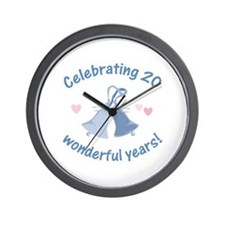 20th Anniversary Bells Wall Clock