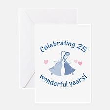 25th Anniversary Bells Greeting Card