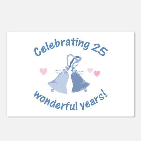 25th Anniversary Bells Postcards (Package of 8)
