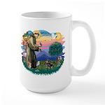 St Francis #2/ Dachshund (BT) Large Mug