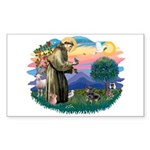 St Francis #2/ Dachshund (BT) Sticker (Rectangle)