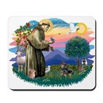 St Francis #2/ Dachshund (BT) Mousepad