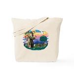 St Francis #2/ Dachshund (BT) Tote Bag