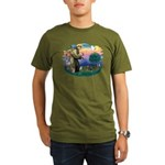 St Francis #2/ Dachshund (BT) Organic Men's T-Shir