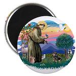 St Francis #2/ Dachshund (BT) 2.25