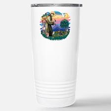 St Francis #2/ Dachshund (BT) Travel Mug