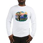 St Francis #2/ Dachshund (BT) Long Sleeve T-Shirt