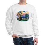 St Francis #2/ Dachshund (BT) Sweatshirt