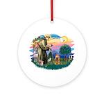 St Francis #2/ Cocker (brn) Ornament (Round)