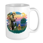 St Francis #2/ Cocker (brn) Large Mug