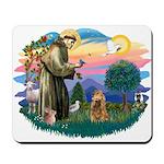 St Francis #2/ Cocker (brn) Mousepad