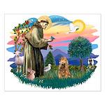 St Francis #2/ Cocker (brn) Small Poster