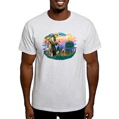 St Francis #2/ Cocker (brn) T-Shirt