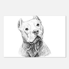 Funny Pit bull rescue central Postcards (Package of 8)