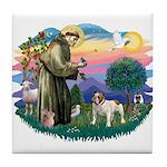 St Francis #2/ Eng Bulldog Tile Coaster