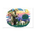 St Francis #2/ Eng Bulldog Mini Poster Print