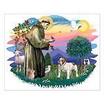 St Francis #2/ Eng Bulldog Small Poster
