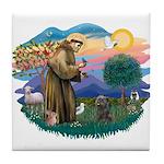 St Francis #2/ Cairn (br) Tile Coaster
