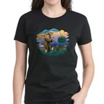 St Francis #2/ Cairn (br) Women's Dark T-Shirt