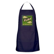 Flint Fruit Crate Label Apron (dark)