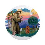 St Francis #2/ Cavalier (r) Ornament (Round)
